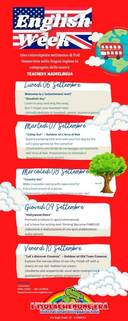 programma english week
